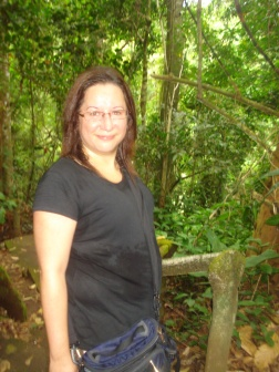 Me heading down the trail