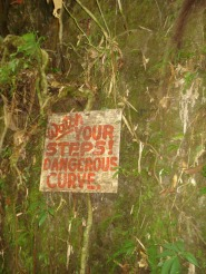 Watch your step dangerous steps