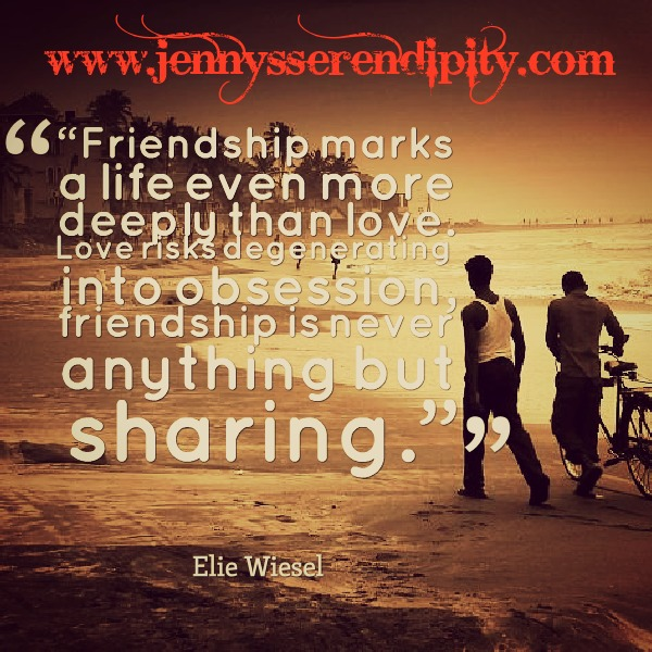 Friendship is never anything but sharing jennys serendipity art blog thecheapjerseys Choice Image