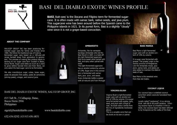 Wine, Basi del Diablo Ambaristo, Basi Maria, Virginia Blush, Fermented Sugarcane, Basi, Wine, Philippine Wine, Ilocos Wine, Basi de Diablo, Basi, Basi Revolt, Sigrit Salucop, Batac, Ilocos Norto, Philippines, Historical Wine, Exotic Wine, Exotic Filipino Wine Brand, Wine Brand, Filipino Wine, Sugarcane Wine Brand, Traditional Wine, Basi, Tropical Wine, Asian Wine