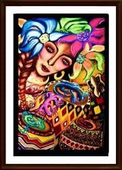 Heidi Rodriguez, Art, Artist, Art Profile, Art For Sale, Pinay Artist, Filipina Artist, Reflections, Artist Reflections, Whimsical Art, Tribal Art, Cross-Cultural Art, Fantastical Art, Tam Awan Artist, Baguio Artist, Painter, Modern Art, Modernist, Philippines