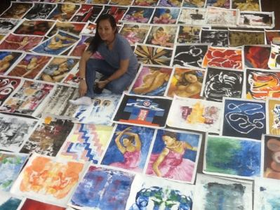Ronna Manansala, Artist Reflections, Art, Art for Sale, Artists, Pinay Artist, Filipina, Artist, Philippines, Vicente Manansala, Cubism, Abstract, Modern Art, Painter