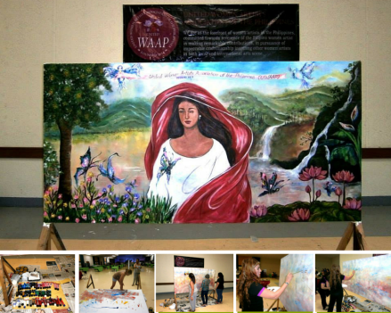 UWAAP's turn over of their artwork to SBMA's Project Development Office during the 1st SBMA's Women's Summit,Nov (2)