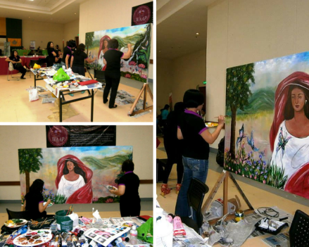 UWAAP's turn over of their artwork to SBMA's Project Development Office during the 1st SBMA's Women's Summit,Nov (3)