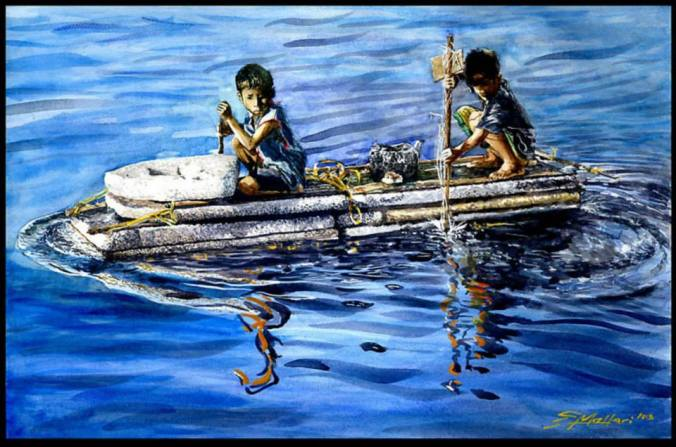 Erwin Mallari, Art, Artist, Filipino Art, Filipino Artist, Watercolour, Watercolour, Figurative Art, Social Realism Art, Featured Art, Philippines