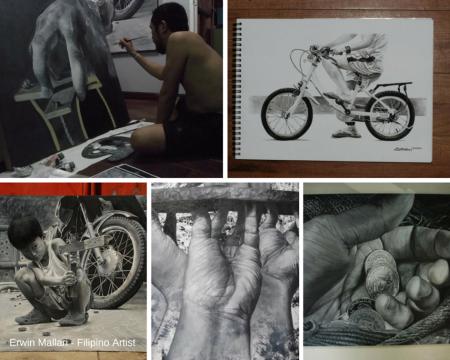 Erwin Mallari, Art, Artist, Filipino Art, Filipino Artist, Watercolour, Watercolour, Figurative Art, Social Realism Art, Featured Art, Philippines, Modern Art