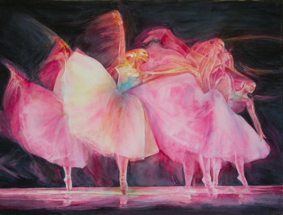 The Balletic Paintings of Master Bienvenido Sibug. Last dance, Watercolor.