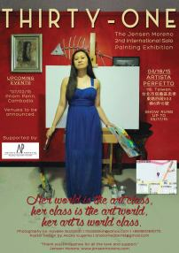 Jensen Moreno, Artist, Painter, Art Exhibit, Art Solo Exhibit, Art Show, Art Event, Art Exhibition, Painting Exhibition, Painting Exhibit, Filipina Artist, Global Pinay, Philippines, Thirty-31, International Painting Exhibition, Beijing, Taiwan, Cambodia