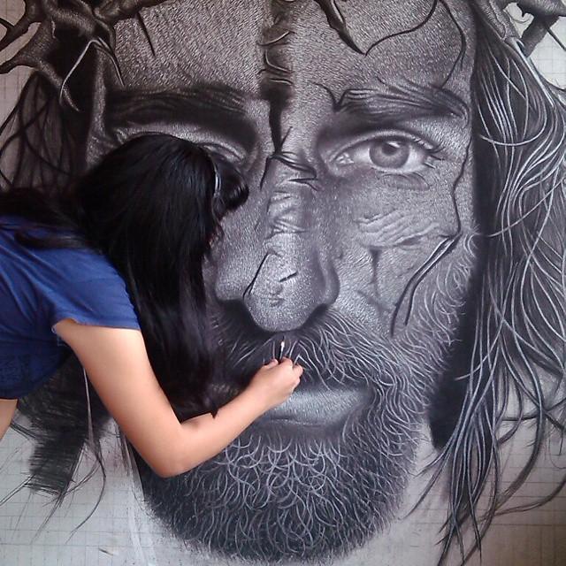 Hyper-Realistic Painting by Filipino Artist, Keshia Arnaiz Timbang