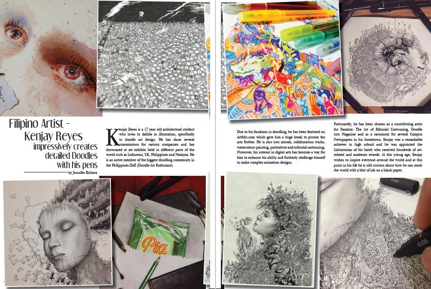 Aura Magazine, Kenjay Reyes, Art, Artist, ArtPh, Philippine Art, Philippines, Filipino Art, Filipino Artist, Doodle, Doodle Artist, Doodle Art Design, Illustration, Draw