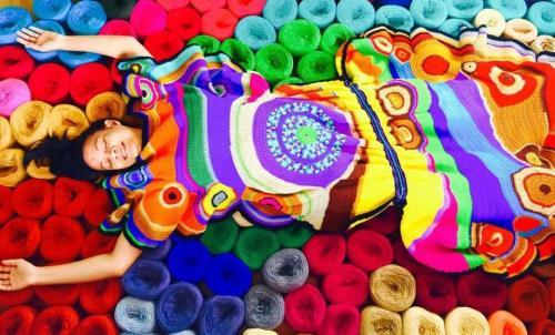 Aura Elite Magazine, Aze Ong, Filipina, Filipina Artist, Visual Artist, Art, Artworks, Handmade Crochet Artworks, Extreme Knitting, Knitting, Crochet Art, Crochet, Crochet Installation, MWS Mussafah Abu Dhabi Art Hub, I Love You Mosque, Philippine Art, Art PH, Performance Artist, Artist Feature