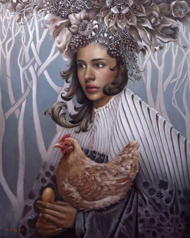 surreal impressionist portraits by camille dela rosa��the