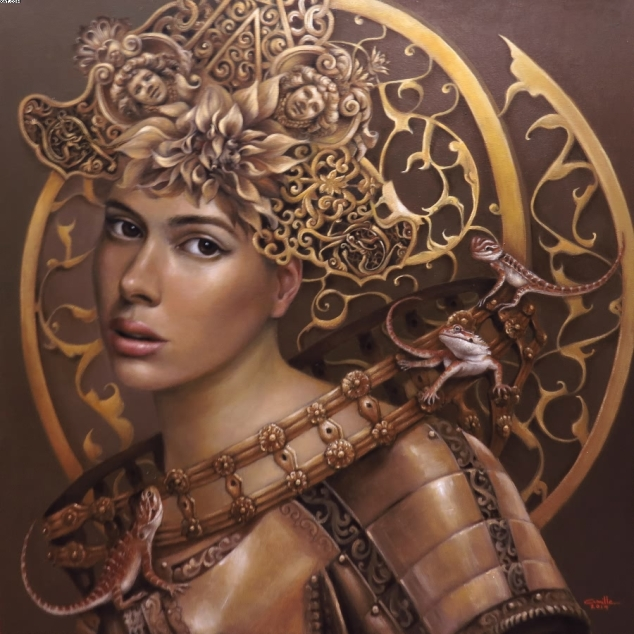 Camille Dela Rosa, Camille D. Dela Rosa, Enchantress Series by Camille Dela Rosa, Art, Artist, Contemporary Art, Modern Art, Surrealism, Surreal, Surrealist, Impressionism, Impressionist, Portraits, Portraiture, Paintings, Painter, Artist Feature, Artist Profile, Filipina Artist, Philippines, Philippine Art, ArtPH