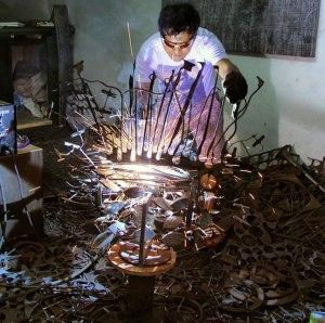 Art, Sam Penaso, Sculptor, Visual Artist, Painter, Painting, Performance Artist, ArtPH, Art Profile, Art Feature, Filipino Artist, Sculptures, Metal, Metalscape, Stainless, Contemporary Art, Abstract, Welded Metal, Art Action, Wall Art Sculpture, Handmade