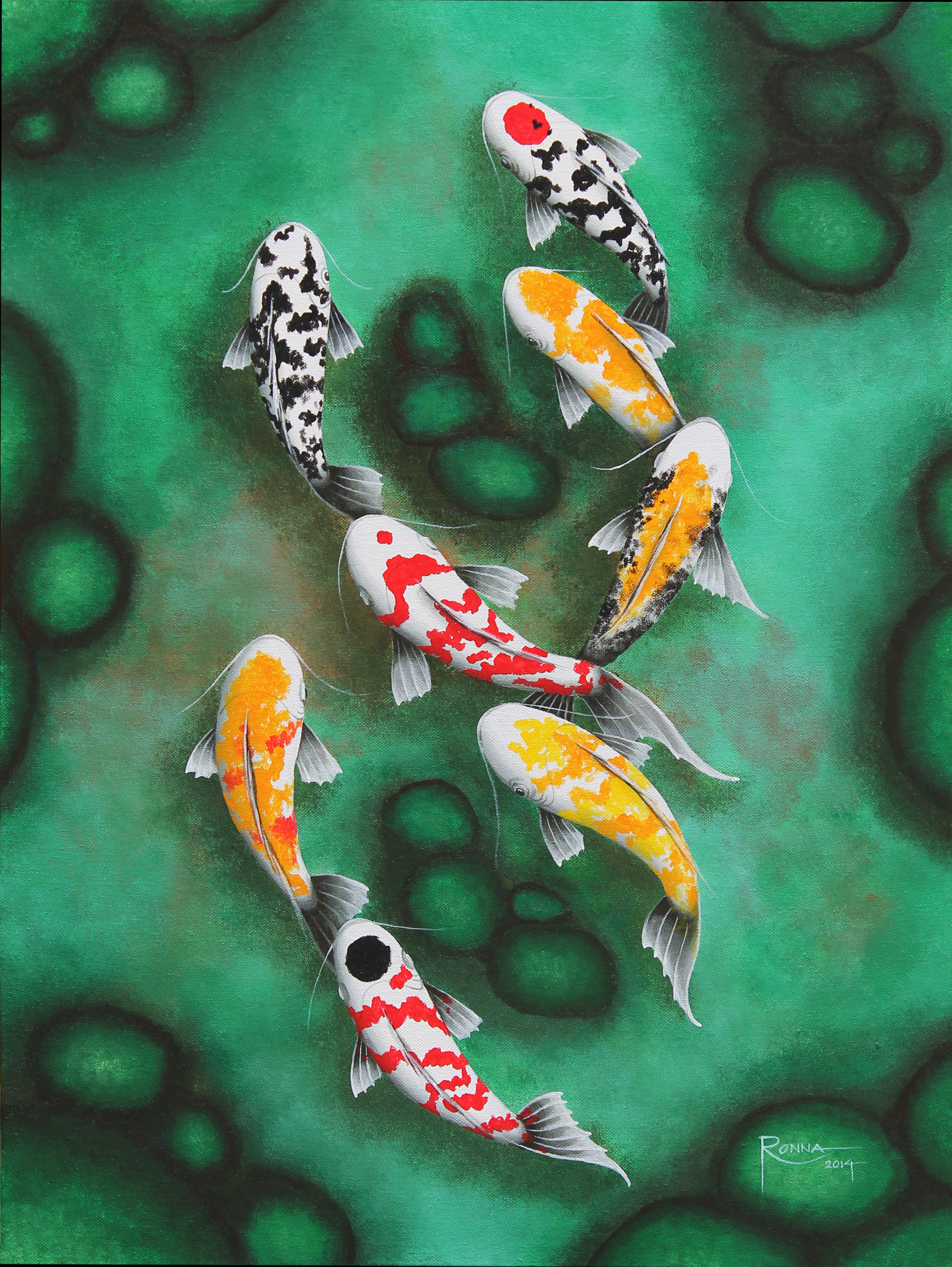 Ronna Lara-Bes and Her Good Luck Koi Fish Paintings \u2013 Jenny\u0027s ...