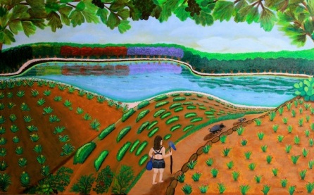 #LornaMaza #FineArt Beautiful Island of the #Philippines www.jennysserendipity.com #Art #ArtPh #FilipinaArtist #Acrylic #AcryliconCanvas