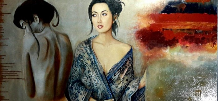 #FilipinaArtist #KhristinaManansala quit her corporate job to follow her grandfather's footsteps. Her #paintings are mostly centered on religious subjects. via Pinay.com - Written by Me - #JenniferBichara