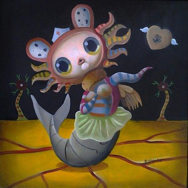#Art #WhimsicalArt #WhimsicalPaintings #WhimsicalArtworks #FantasyArt by #BuhayMendoza, #FilipinoArtist #ArtPh www.jennysserendipity.com