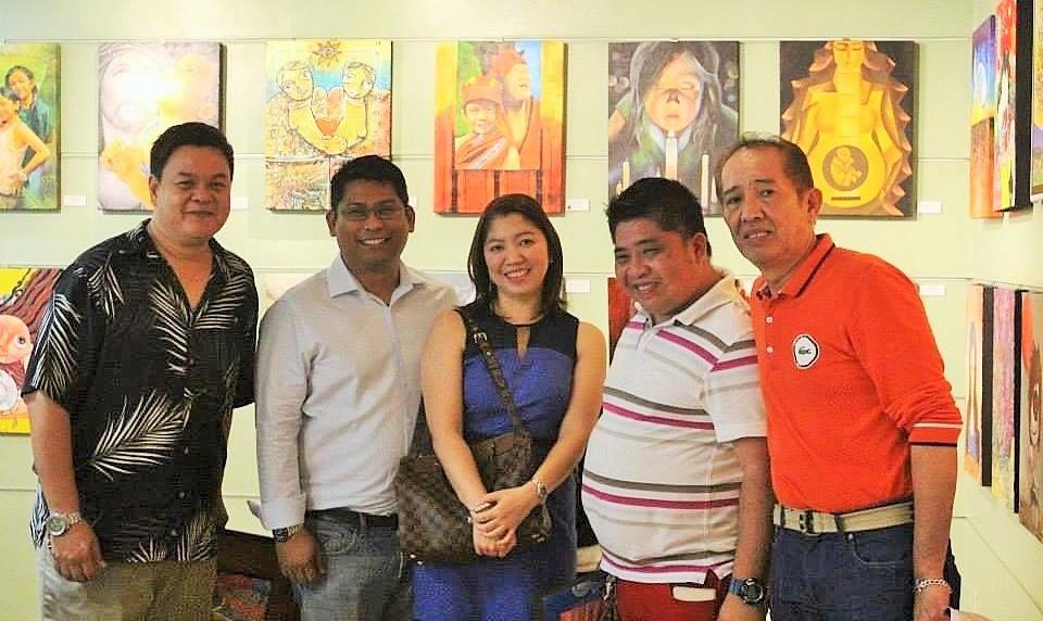 Bill Perez, Jason and Stefanie Yvette Macuha of Macuha Art Gallery, Aris Bagtas and Virgilio Cuizon of Kunst Pilipino Gallery