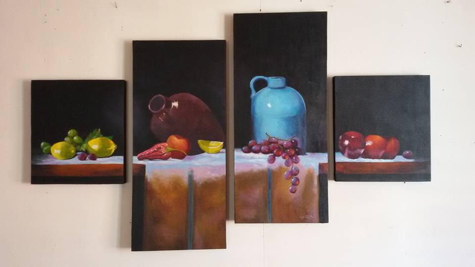 Roderick Imperio Artwork Still Life Series Painting Acrylic on Canvas Galerie De Las Islas presents SINCO BICOLANOS Artist