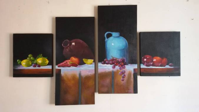 Roderick Imperio Artwork Still Life Series Painting Acrylic on Canvas Galerie De Las Islas presents SINCO BICOLANOS Artist