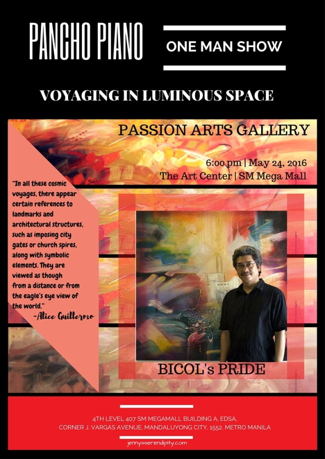 (May 24th) Voyaging in Luminous Space: One Man Show by Pancho Piano